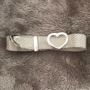 Jewelry - Designer Inspired 9.25 Heart Mesh Buckle Bracelet